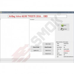 EU0039 Volvo AirBag modules TMS570 Clear Crash/Events OBD